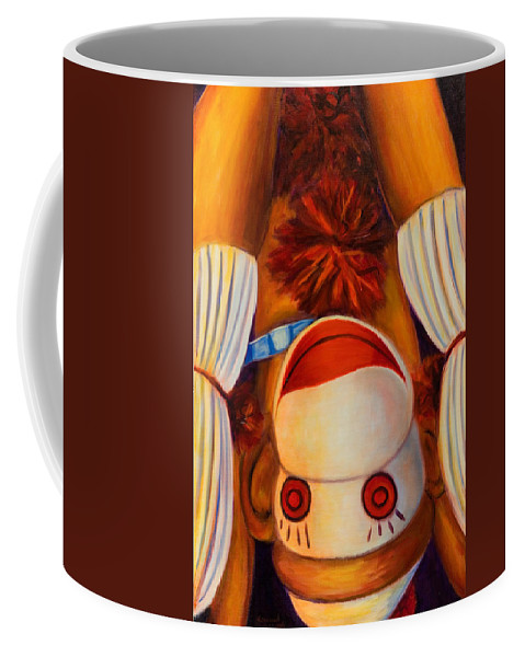 Children Coffee Mug featuring the painting Head-over-heels by Shannon Grissom