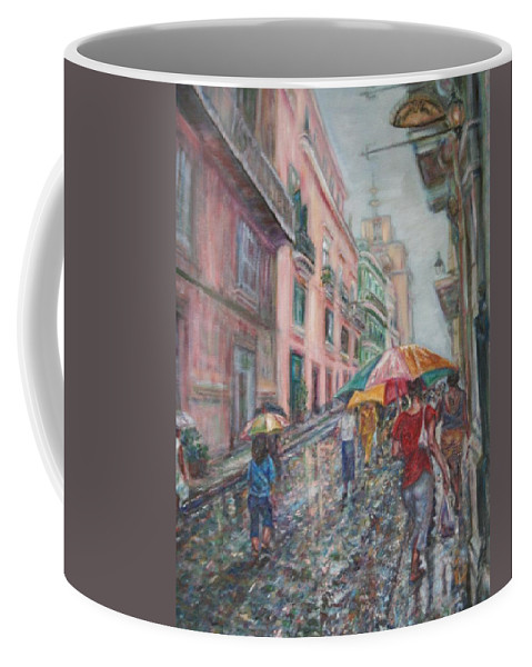 Women Coffee Mug featuring the painting Heading Home In Havava by Quin Sweetman