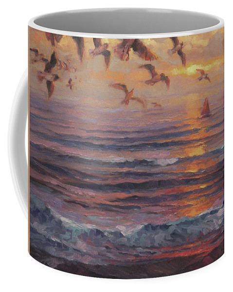 Coast Coffee Mug featuring the painting Heading Home by Steve Henderson