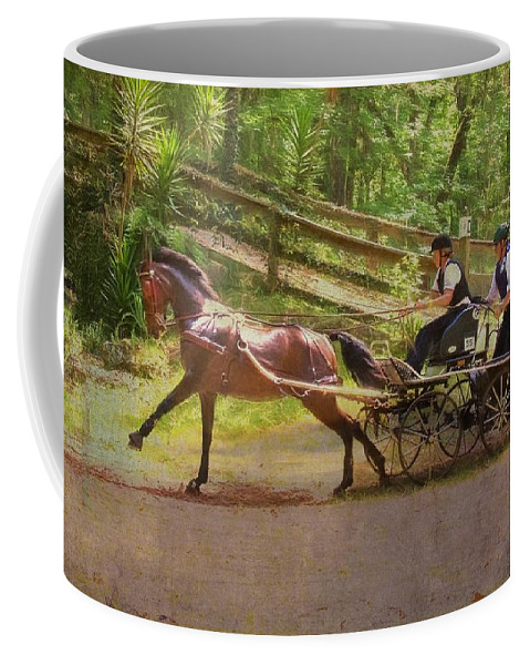 Horse Coffee Mug featuring the photograph Heading To The Gulch by Alice Gipson