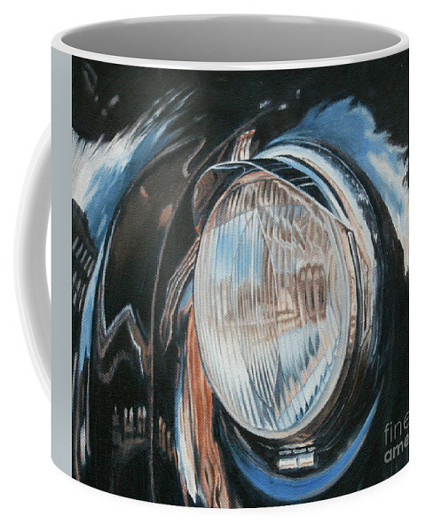 Classic Coffee Mug featuring the painting Headlight Study by Pauline Sharp
