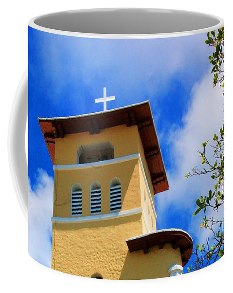 Cross Coffee Mug featuring the photograph Heads Up by Debbi Granruth