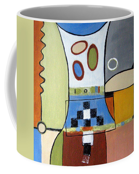 Abstract Coffee Mug featuring the painting Headspin by Ruth Palmer