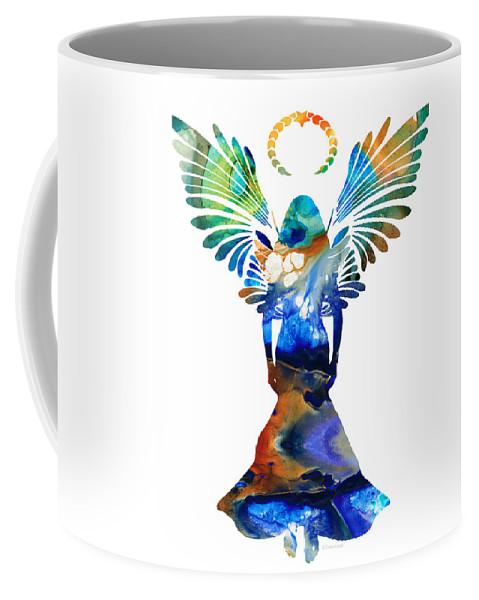 Guardian Coffee Mug featuring the painting Healing Angel - Spiritual Art Painting by Sharon Cummings