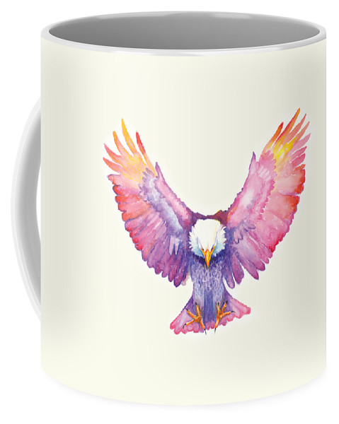 Eagle Coffee Mug featuring the painting Healing Wings by Cindy Elsharouni