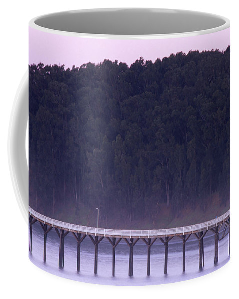 Pier Coffee Mug featuring the photograph Hearst Beach by Soli Deo Gloria Wilderness And Wildlife Photography