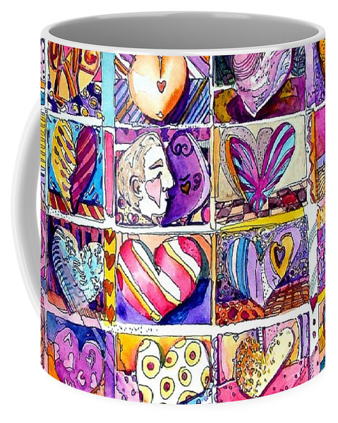 Love Coffee Mug featuring the painting Heart 2 Heart by Mindy Newman