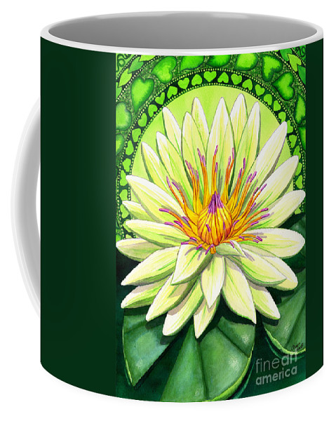 Heart Coffee Mug featuring the painting Heart Chakra by Catherine G McElroy