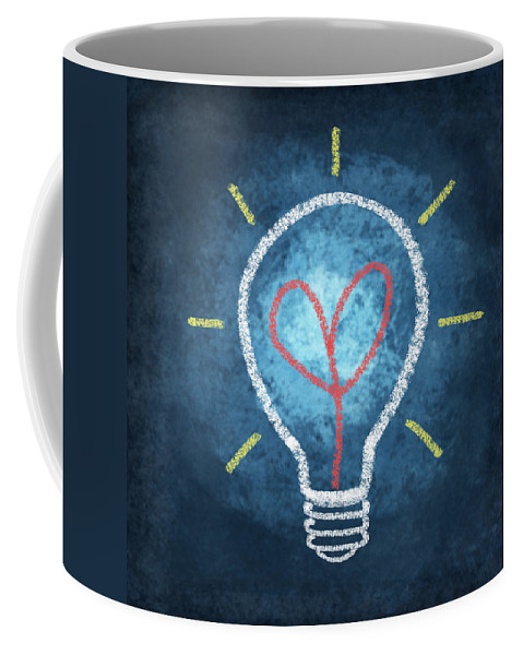 Attentive Coffee Mug featuring the photograph Heart In Light Bulb by Setsiri Silapasuwanchai
