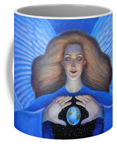 Goddess Coffee Mug featuring the painting Heart Of Creation by Sue Halstenberg