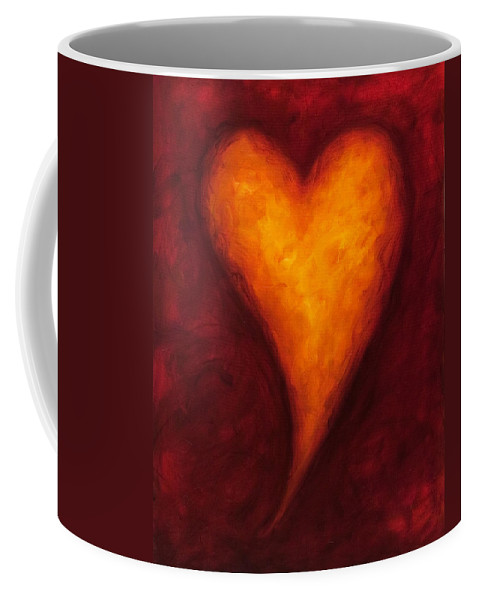 Heart Coffee Mug featuring the painting Heart Of Gold 2 by Shannon Grissom