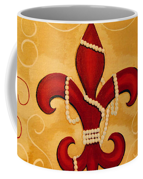 Fleur De Lis Coffee Mug featuring the painting Heart Of New Orleans by Valerie Carpenter