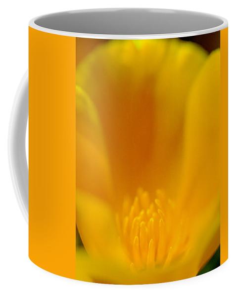 Poppy Coffee Mug featuring the photograph Heart Of Poppy by Denise Dethlefsen