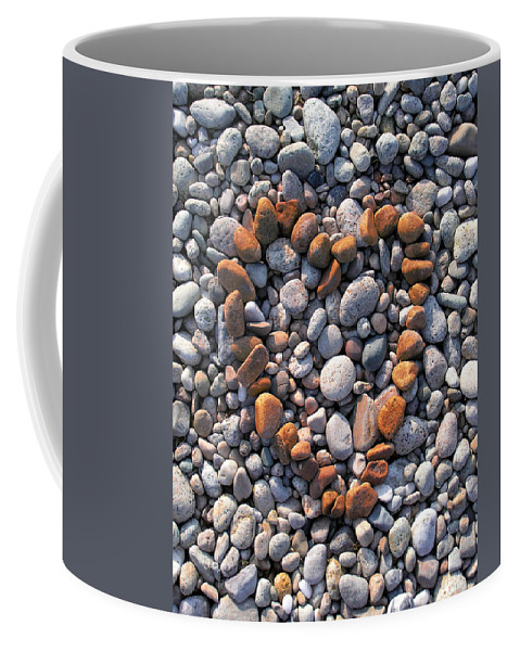 Heart Coffee Mug featuring the photograph Heart Of Stones by Charles Harden