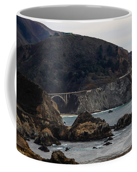 Bixby Coffee Mug featuring the photograph Heart Of The Bixby Bridge by Marnie Patchett