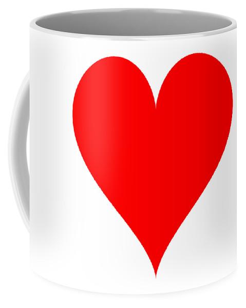 Heart Coffee Mug featuring the digital art Heart Shape Template by Miroslav Nemecek