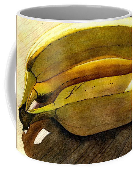 Bananas Coffee Mug featuring the painting Heart Smart by Catherine G McElroy