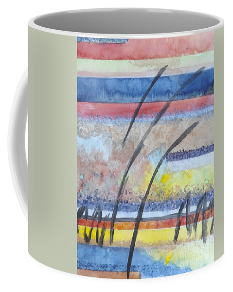 Abstract Coffee Mug featuring the painting Heartbeat by Jacqueline Athmann