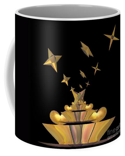 Hearts Coffee Mug featuring the digital art Hearts And Stars by Deborah Benoit