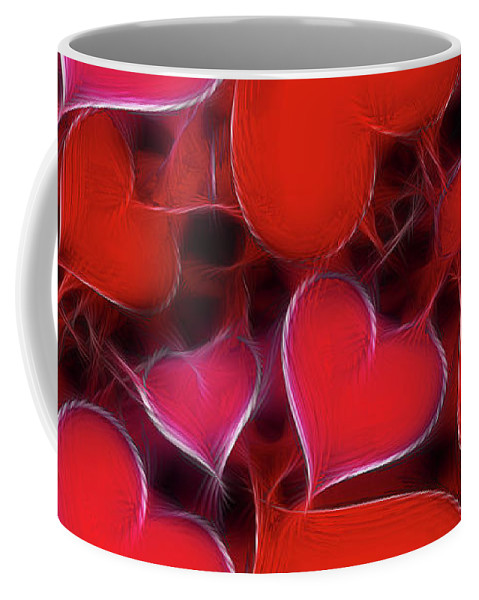 Heart Coffee Mug featuring the digital art Hearts Collage by David G Paul
