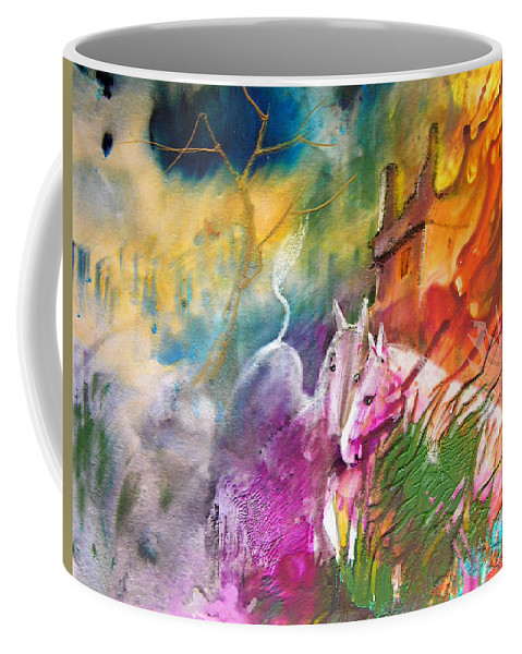 Love Coffee Mug featuring the painting Hearts In Fire by Miki De Goodaboom