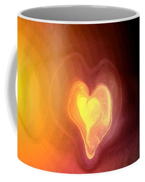 Heart Art Coffee Mug featuring the digital art Heartwarming by Linda Sannuti