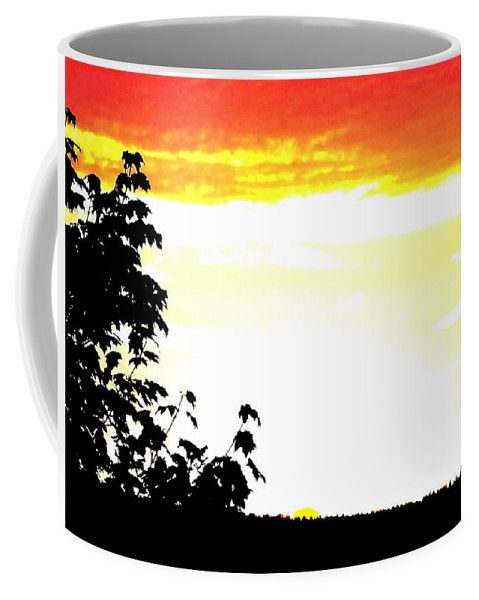 Heat Wave Coffee Mug featuring the digital art Heat Wave by Will Borden