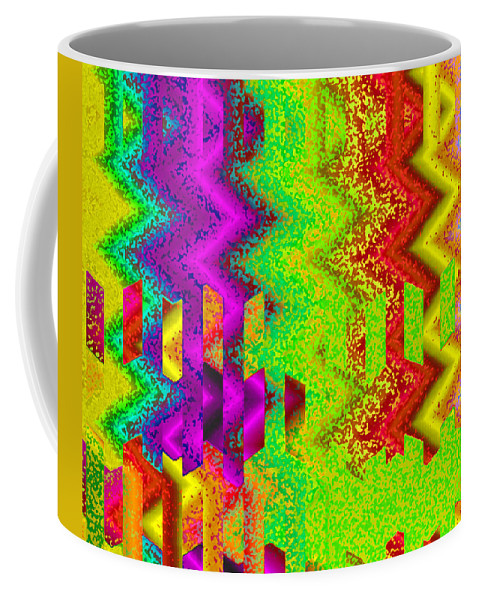 Abstract Coffee Mug featuring the digital art Heaven by Ruth Palmer