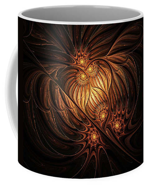 Digital Art Coffee Mug featuring the digital art Heavenly Onion by Amanda Moore