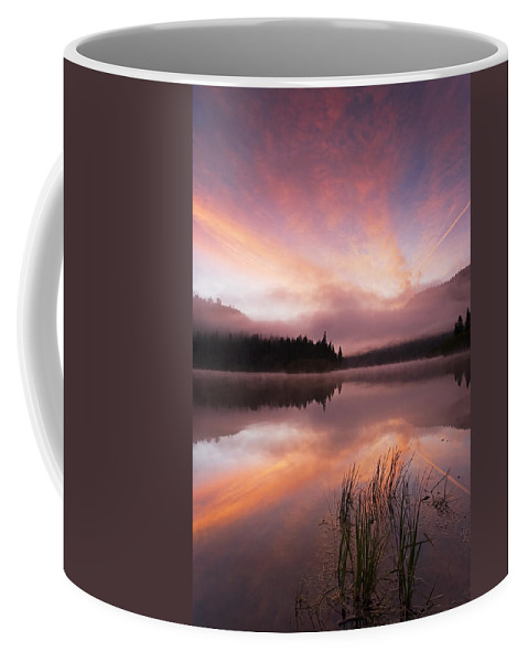 Sunrise Coffee Mug featuring the photograph Heavenly Skies by Mike Dawson