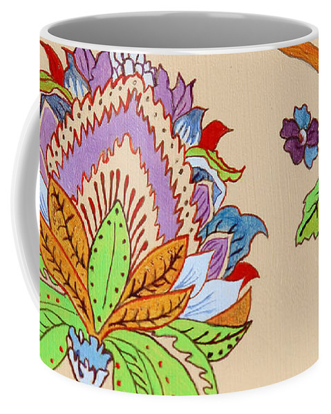 Floral Coffee Mug featuring the painting Heavens Flower by Portraits By NC