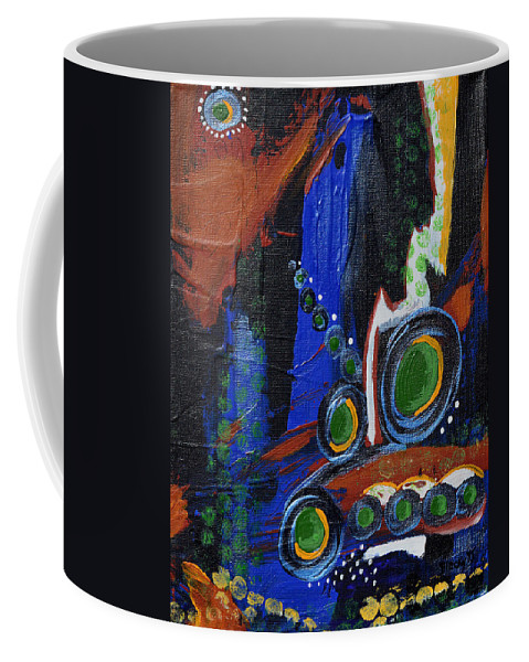 Artillery Coffee Mug featuring the painting Heavy Artillery by Donna Blackhall