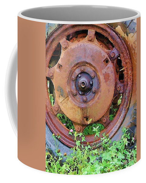 Rust Coffee Mug featuring the photograph Heavy Metal by Debbi Granruth
