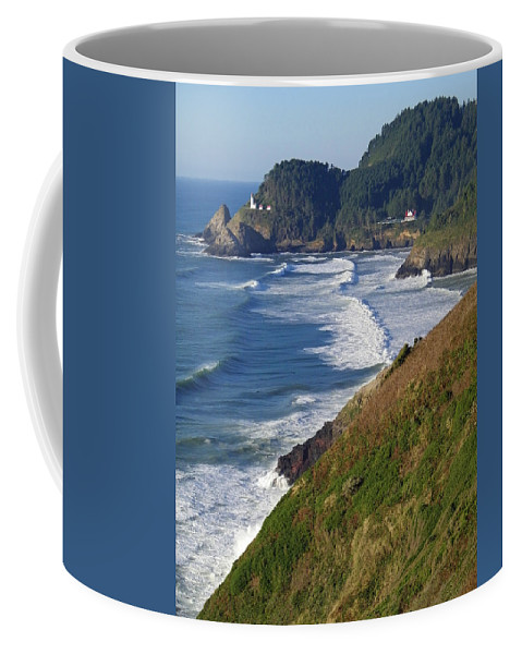 Lighthouse Coffee Mug featuring the photograph Heceta Head Lighthouse by Gale Cochran-Smith