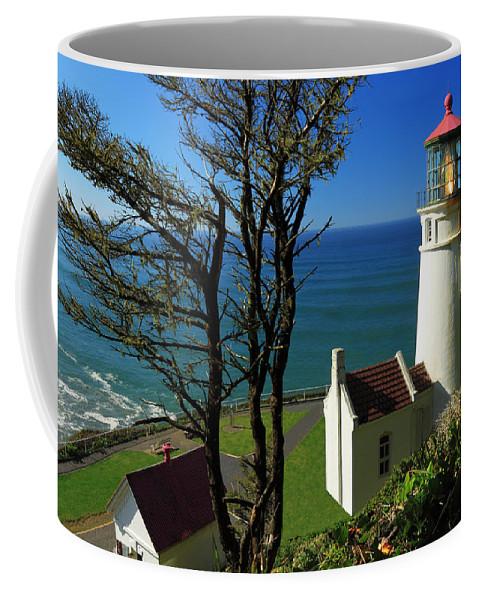 Lighthouse Coffee Mug featuring the photograph Heceta Head Lighthouse by James Eddy