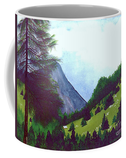 Original Painting Coffee Mug featuring the painting Heidi's Place by Patricia Griffin Brett
