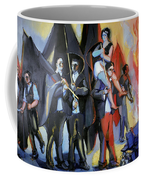 1968 Coffee Mug featuring the photograph Helion: Paris Riots, 1968 by Granger