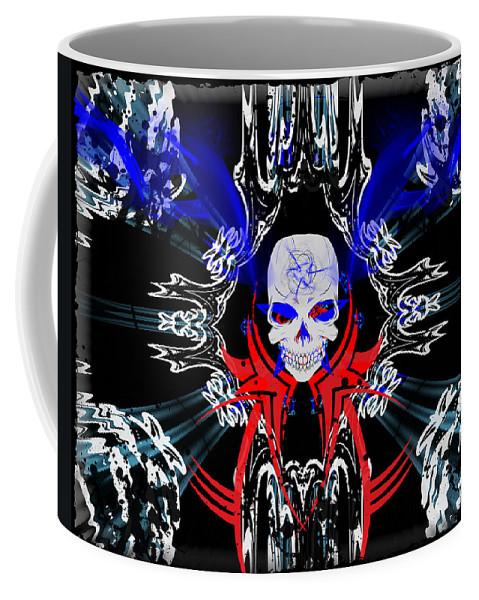 Hell Coffee Mug featuring the digital art Hell Rider by Michael Damiani