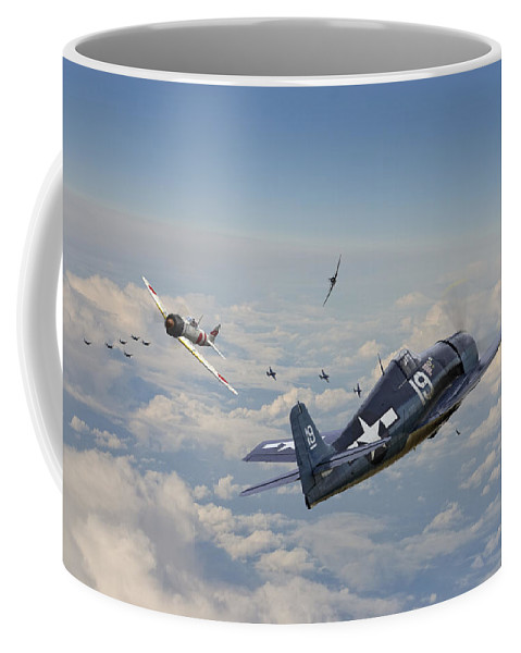 Aircraft Coffee Mug featuring the photograph Hellcat F6f - Duel In The Sun by Pat Speirs