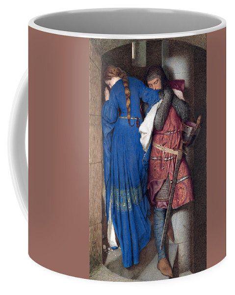 Frederic William Burton Coffee Mug featuring the drawing Hellelil And Hildebrand Or The Meeting On The Turret Stairs by Frederic William Burton