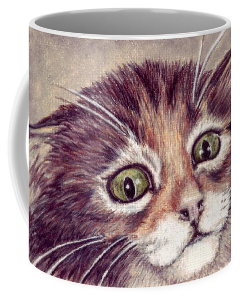 Cat Coffee Mug featuring the drawing Hello Clarice by Kristen Wesch