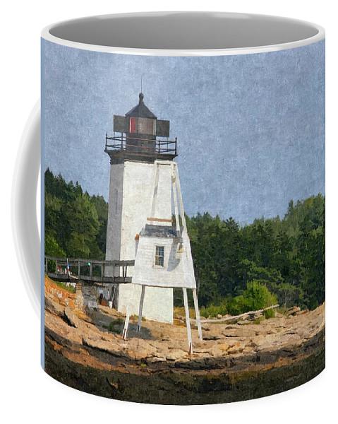 Hendrick Head Coffee Mug featuring the photograph Hendricks Head Lighthouse by Nancie DeMellia