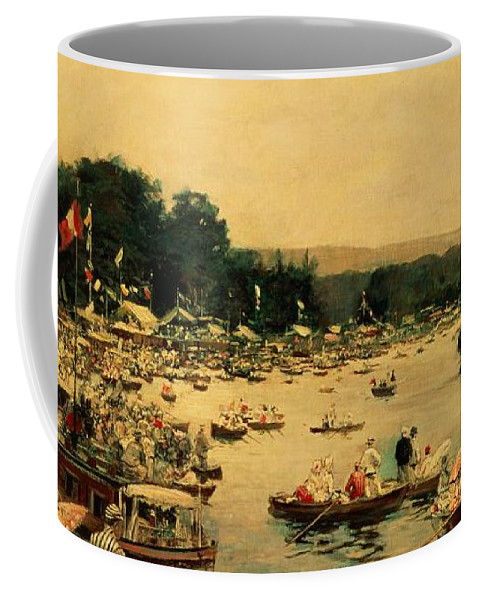 Henley Regatta Coffee Mug featuring the painting Henley Regatta by James Jacques Joseph Tissot