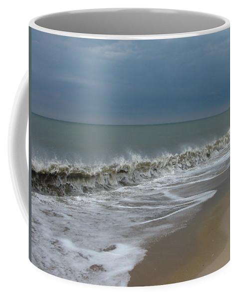 Ocean Wave Storm Seascape Coast Beach Shore Photographs Canvas Prints Coffee Mug featuring the photograph Henlopen Shore by Joshua Bales