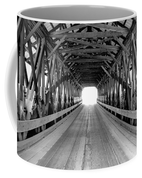 Henniker Coffee Mug featuring the photograph Henniker Covered Bridge by Greg Fortier