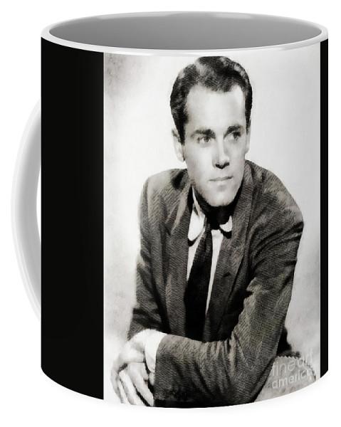 Henry Coffee Mug featuring the painting Henry Fonda, Hollywood Legend by John Springfield