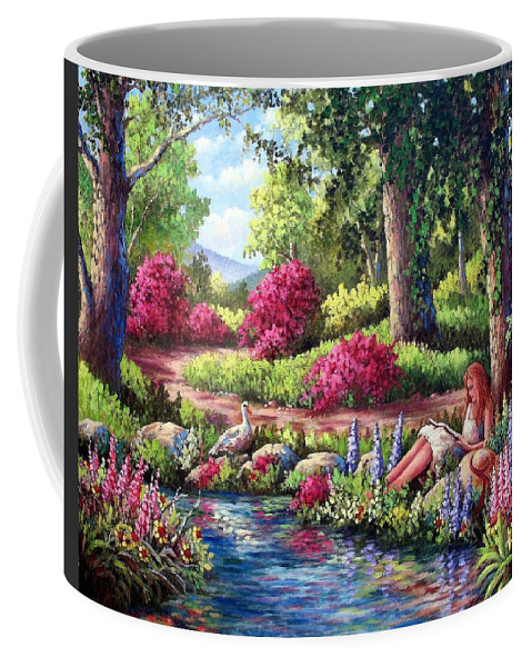 Read Coffee Mug featuring the painting Her Reading Hideaway by David G Paul