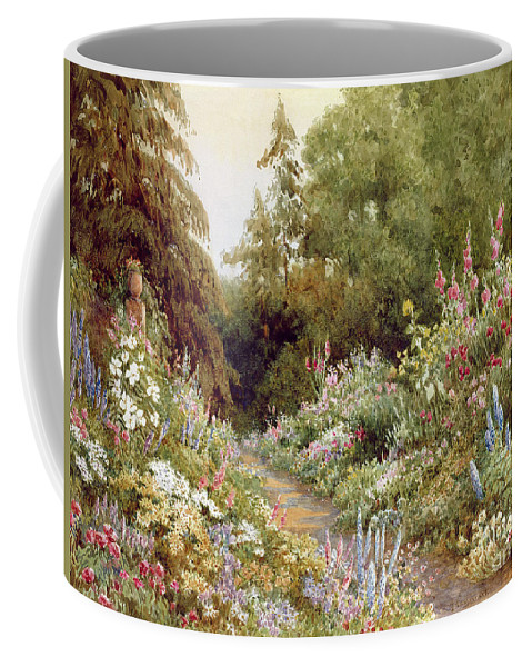 Herbaceous Coffee Mug featuring the painting Herbaceous Border by Evelyn L Engleheart