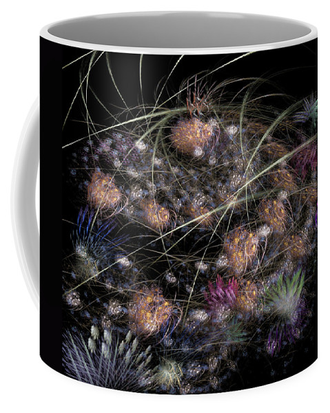 Abstract Coffee Mug featuring the digital art Herbaceous by Casey Kotas
