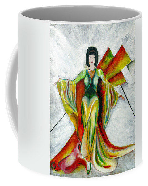 Dress Coffee Mug featuring the painting Here Comes The Sun by Tom Conway